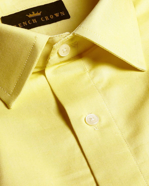 The Banana Yellow Cotton SHIRT