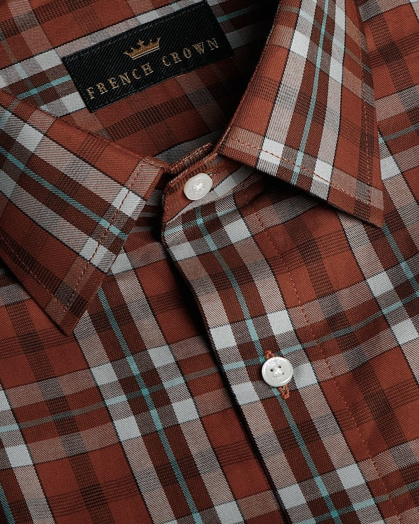 Brown Tartan Premium Cotton SHIRT