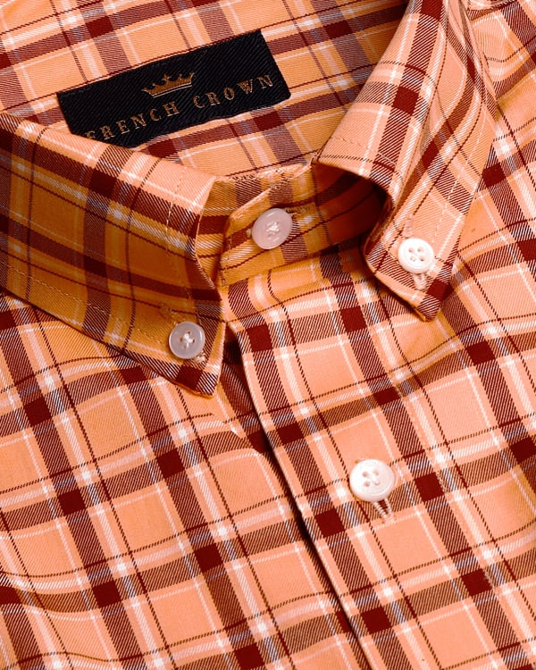 Orange Tartan Premium Cotton SHIRT