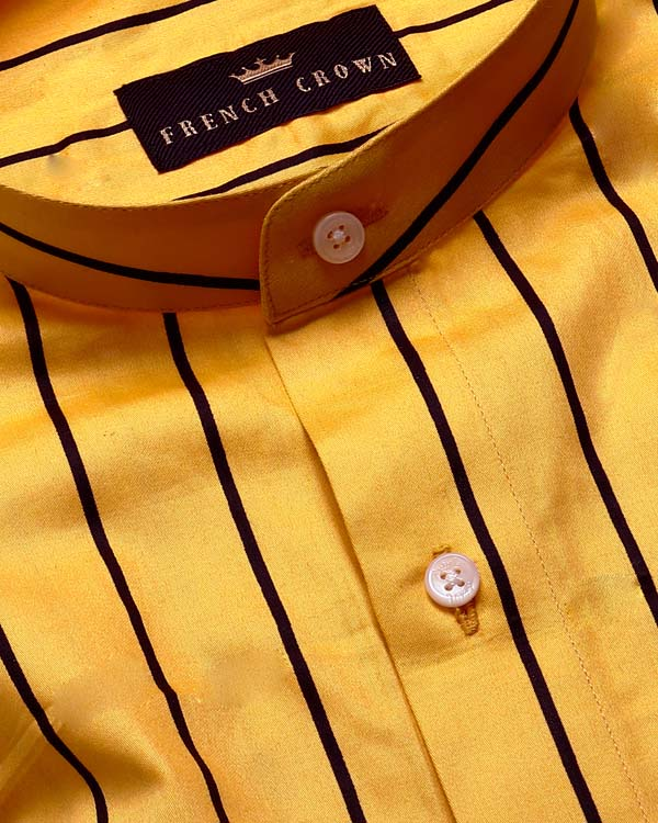 Bumblebee  🐝 Yellow Striped Premium Cotton SHIRT