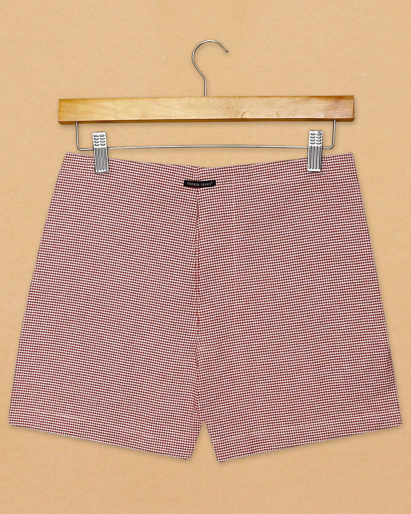Denim Solid and Red Checked Premium Cotton Boxers