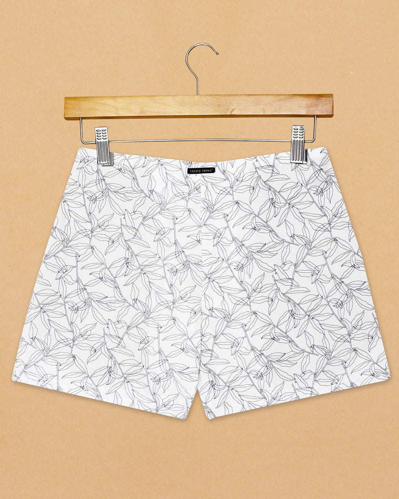 White Printed and Heena Printed Cotton Boxers