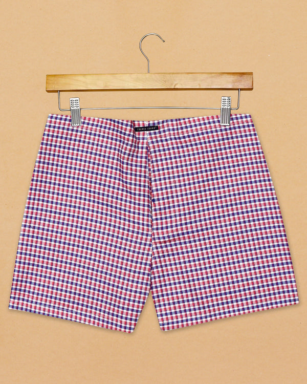 Pink Micro Checked and Blue Checked Giza Cotton Boxers