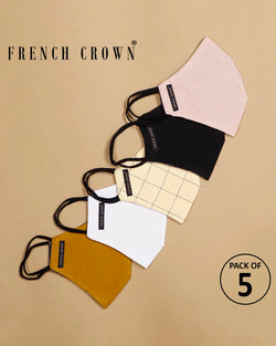 Tripp-French Crown Pack Of 5 Cotton Masks