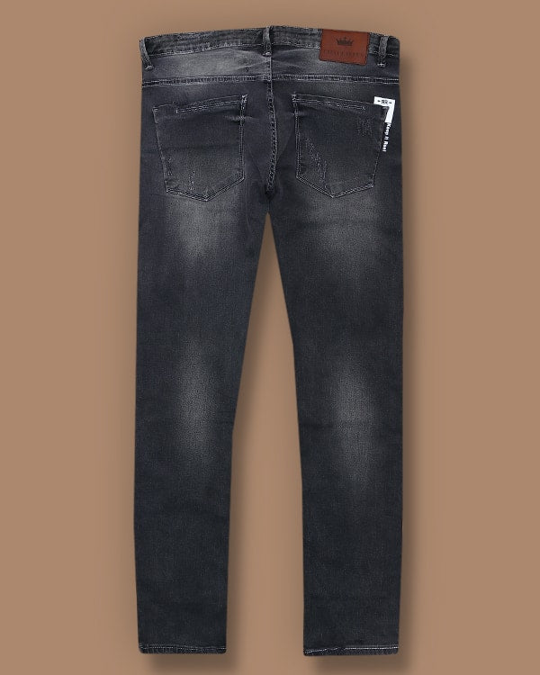 Grey Mid-Rise Mildly Distressed Stretchable Jeans