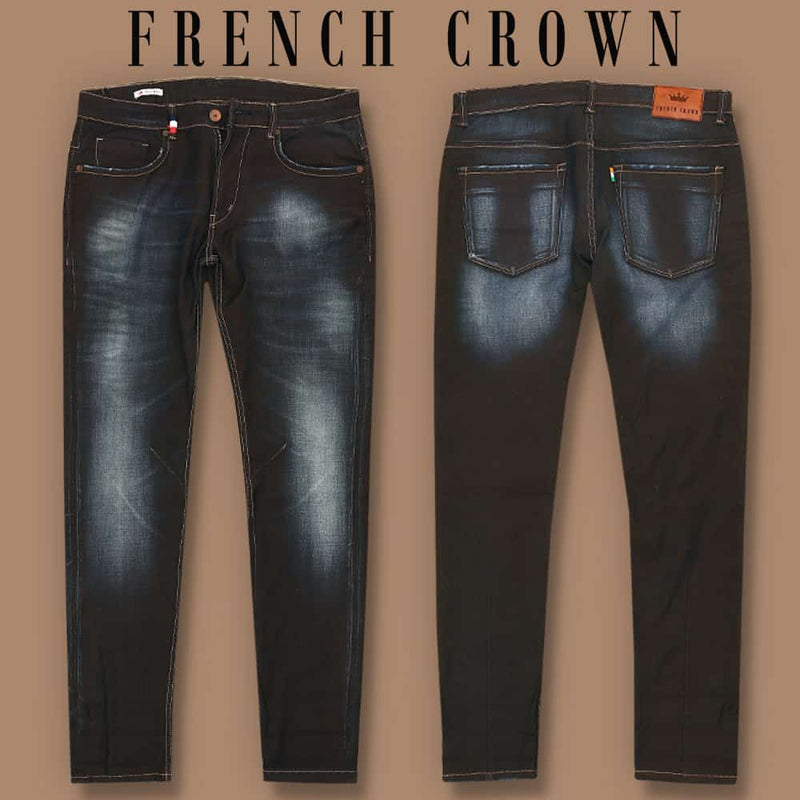 Charcoal Grey Mid-Rise Clean Look Stretchable Jeans