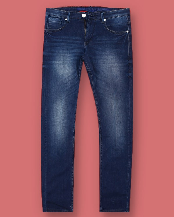 Mid Blue Light weight Clean Look Stretchable Jeans