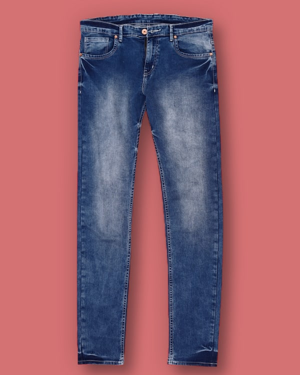 Sky Blue Heavy Fade Stretchable Jeans