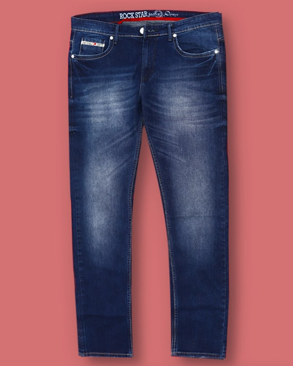 Blue Washed Mid Rise Jeans