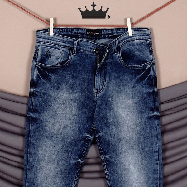Sky Blue Acid washed Stretchable Jeans