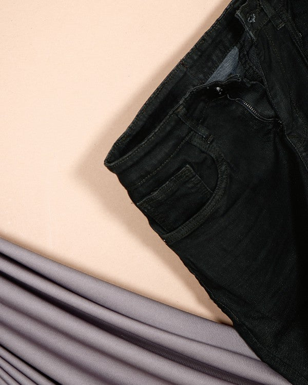 Dark Green Stretchable Jeans