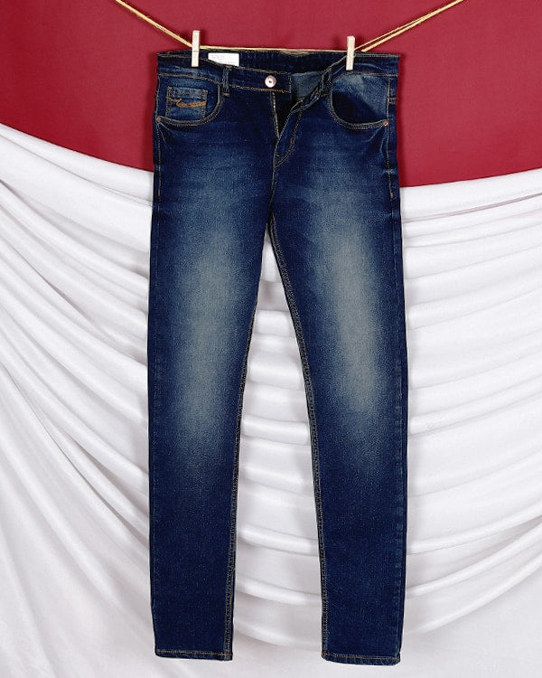 Logan- Brownish Blue mid-rise Stretchable Jeans