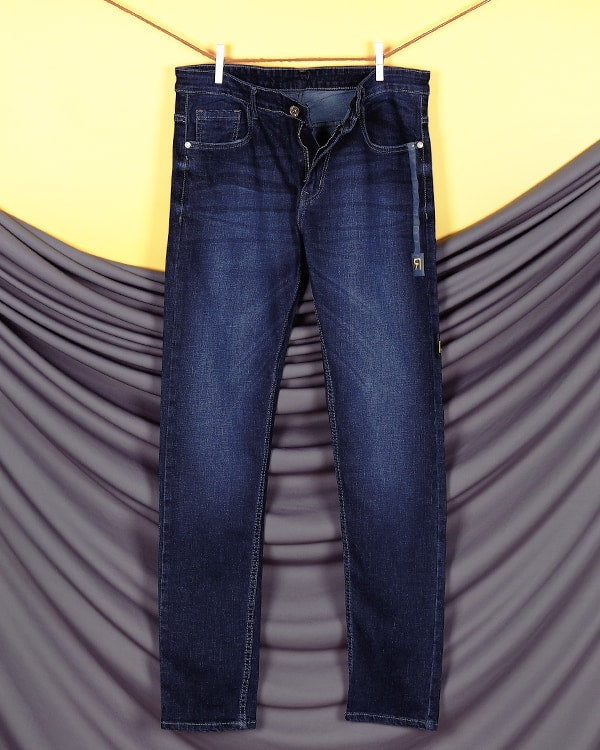 Luca - Dark Blue Side tape light-fade Stretchable Jeans