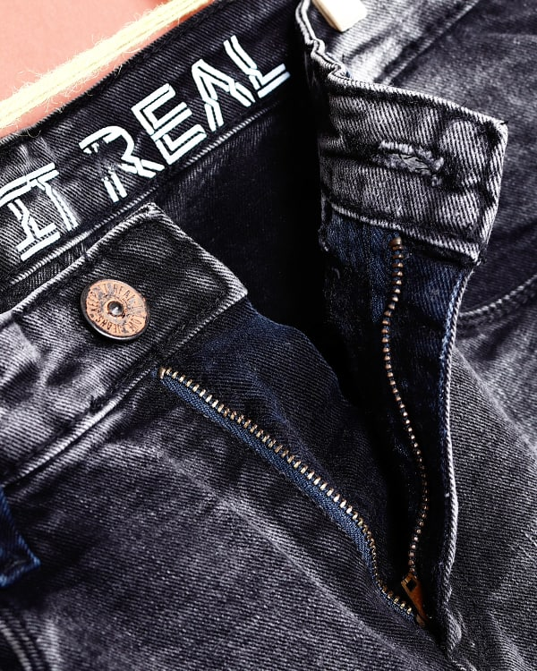 Santiago- Grey Heavy fade highly Distressed Stretchable Jeans