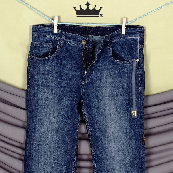 Parker–Light Blue Side tape light-fade Stretchable Jeans