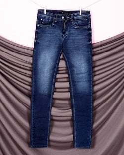 Xavier- Mid Blue Mid-Rise Clean Look Stretchable Jeans