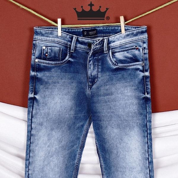 Miles- Sky Blue Mid-Rise Clean Look Stretchable Jeans