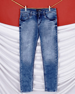 Carlos- Sky Blue Heavy Weight Clean Look Stretchable Jeans