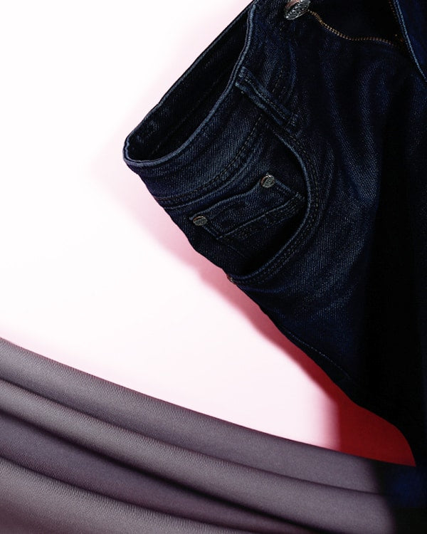 Max- Dark Blue Mid-Rise Clean Look Stretchable Jeans