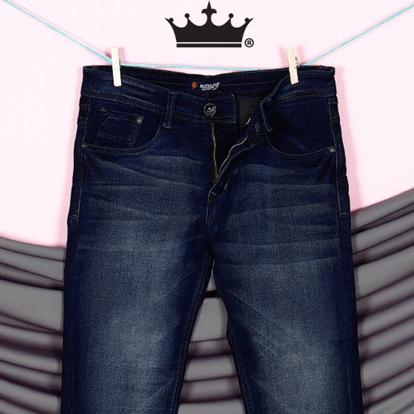 Diego- Dark Blue Heavy weight Clean Look Stretchable Jeans