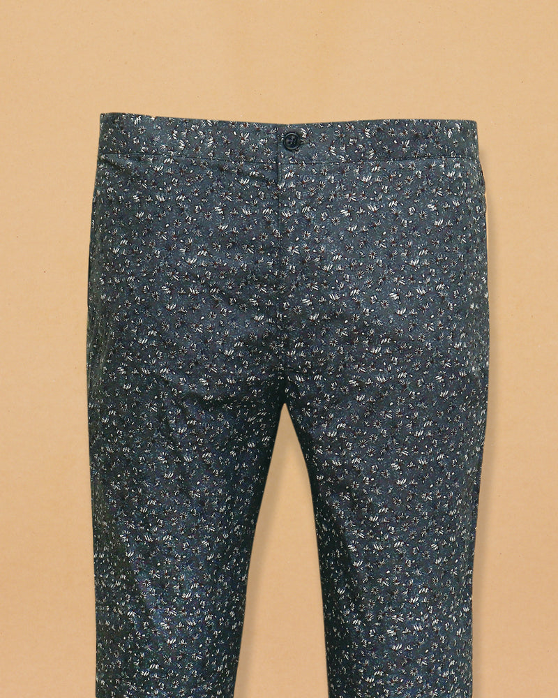 Green Micro Printed  Lounge Pants