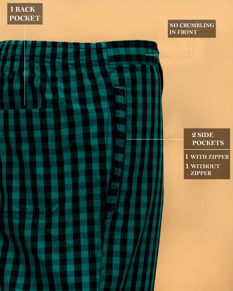 Green Checked Lounge Pants
