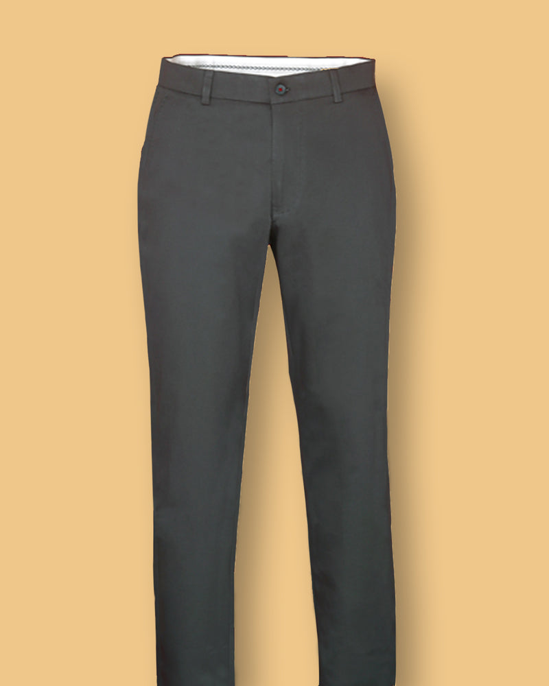 Shadow Grey Regular fit Cotton Chino