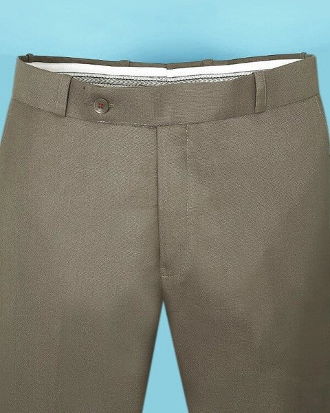 Tan Brown regular fit Formal Pant