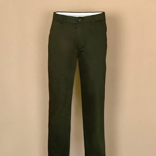 Deep Green Satin Cotton Chino