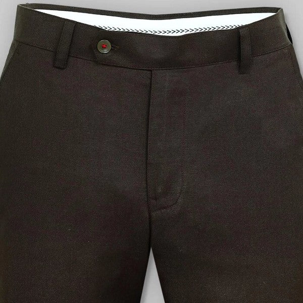 Dark Coffee Brown LINEN Trouser