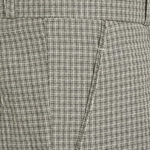 Beige Checked Regular fit Tere-rayon Trouser