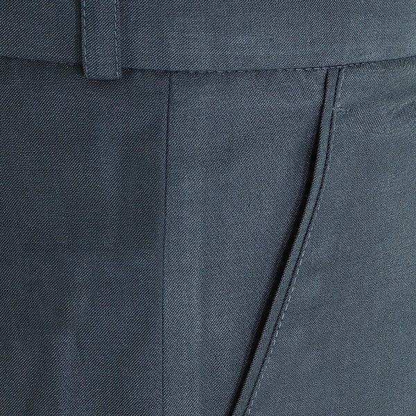 Lead Grey Pleated Formal Pant