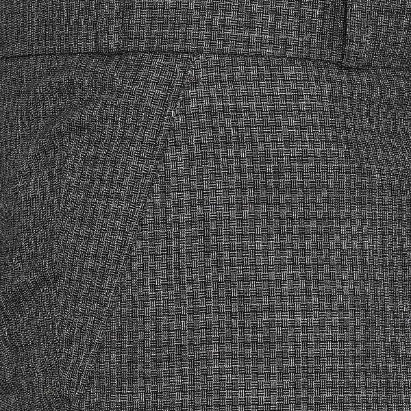 Charcoal Grey Checked Regular fit Tere-Rayon Formal Pant