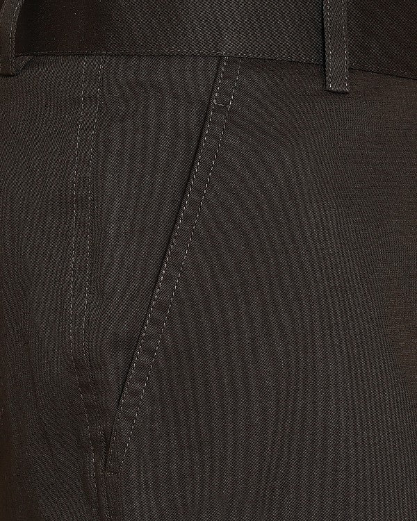 Chocolate Brown Regular fit Cotton Chino