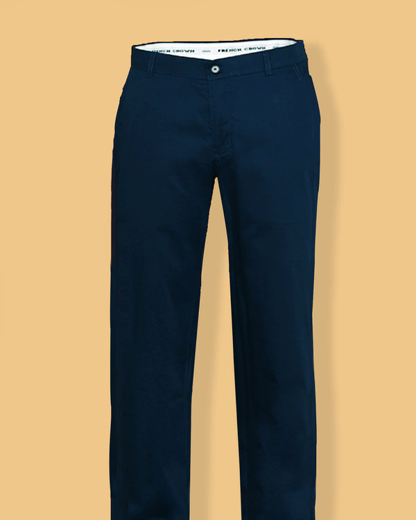 Egyptian Blue Regular fit Cotton Chino