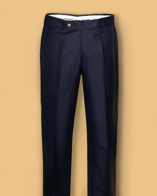 Cedar Brown Regular fit Tere-Rayon Formal Pant