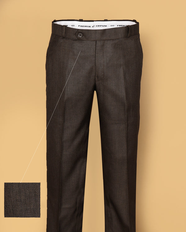 Coffee Regular fit Tere-Rayon Formal Pant
