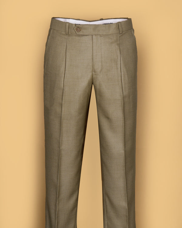 Caramel Regular fit Tere-Rayon Formal Pant