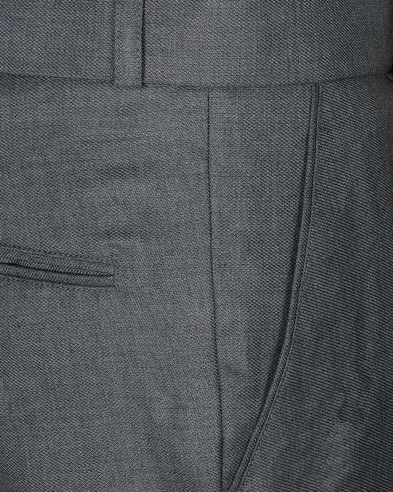 Light Grey Regular fit Tere-Rayon Formal Pant