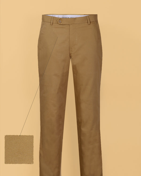 Camel 🐪Khaki Regular fit Cotton Pant