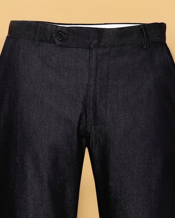 Allen Black Regular fit Cotton Pant