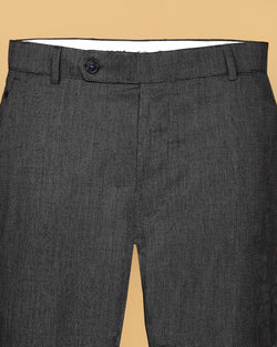 Charcoal Grey Regular fit Cotton Pant