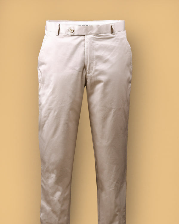 Bowery Beige Stretch Regular fit Cotton Pant