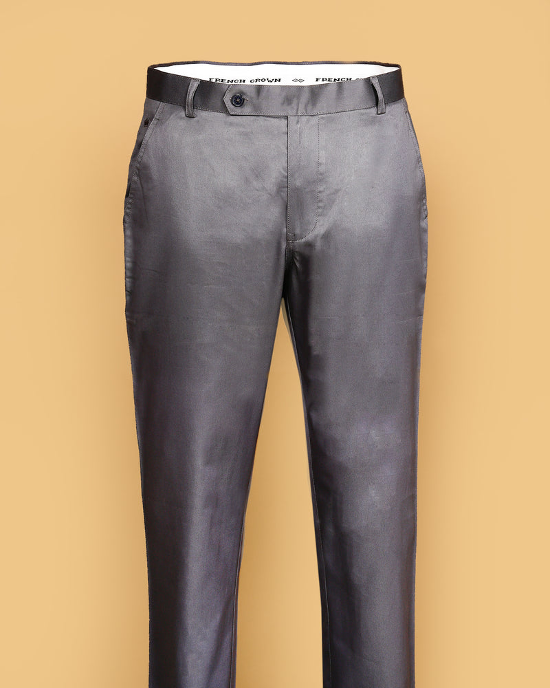 Coin Grey Regular fit Cotton Chino