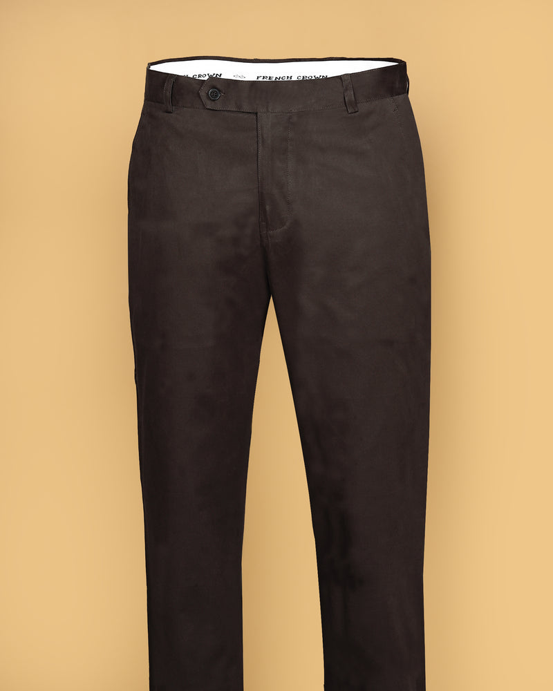Chocolate Regular fit Cotton Chino