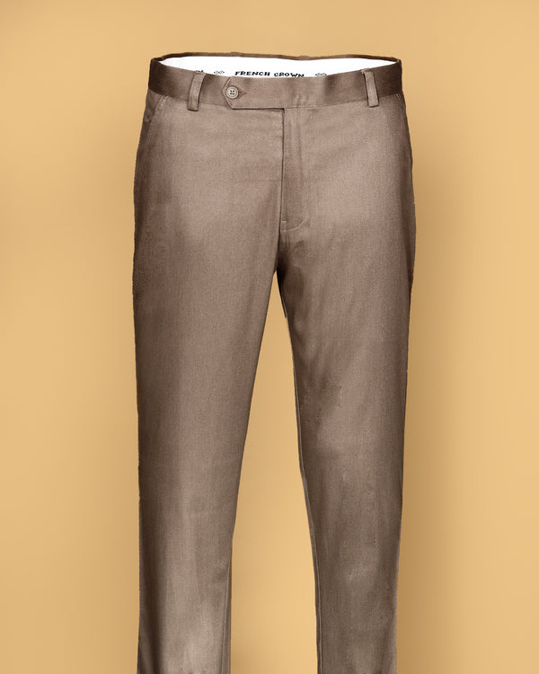 Fawn Khaki Faded Regular fit Cotton Chino
