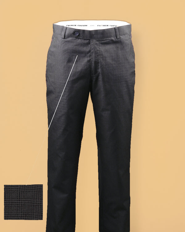 Coffee Checked Regular fit Cotton Pant