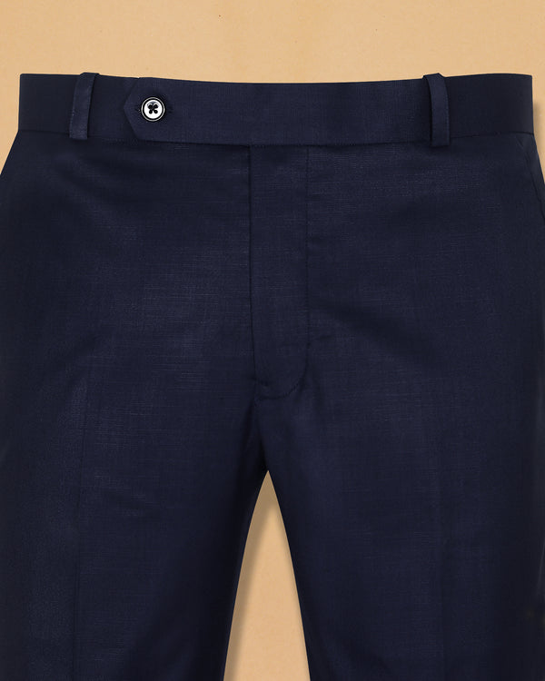 Berry Blue Linen Performance Trouser