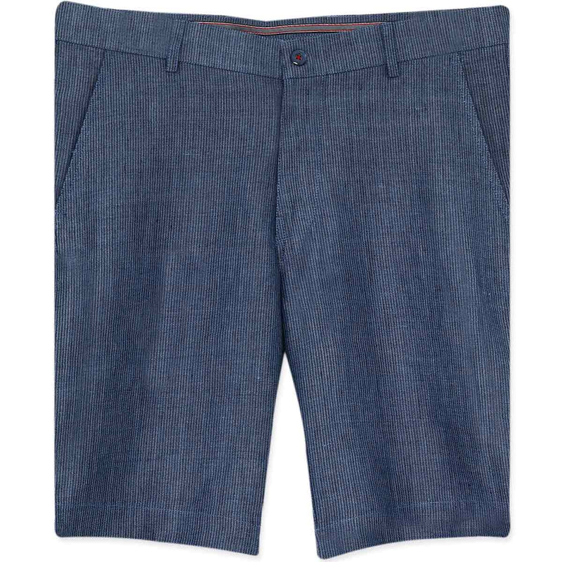 Blue Striped LINEN Shorts