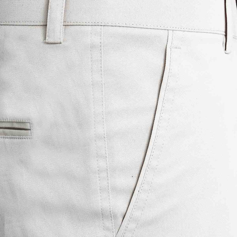 Light Cream Regular fit Cotton Shorts